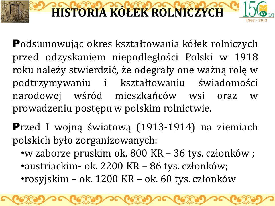 HISTORIA KÓŁEK ROLNICZYCH