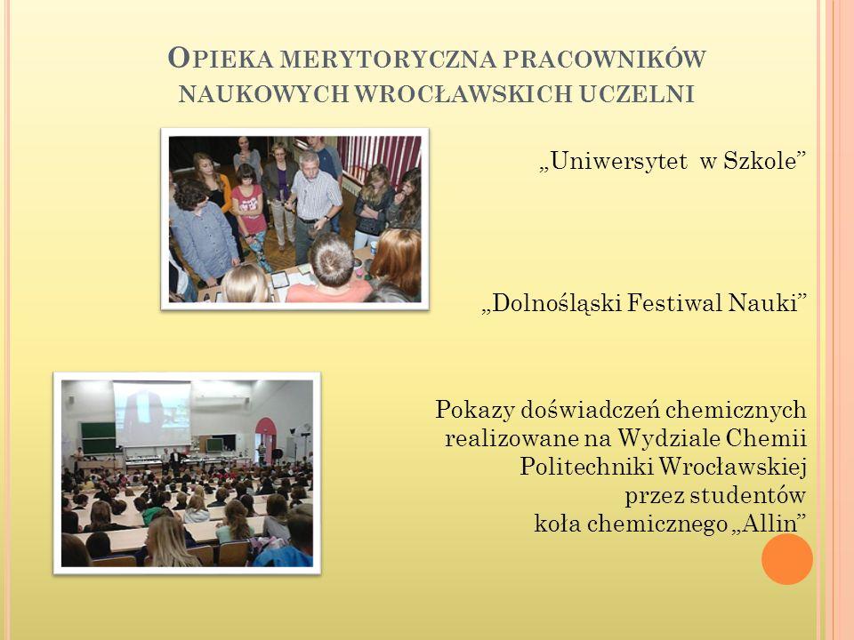 Opieka merytoryczna pracowników naukowych wrocławskich uczelni