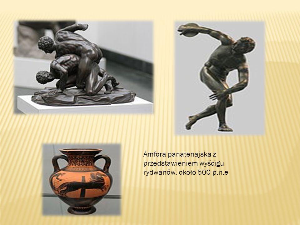 Amfora panatenajska z przedstawieniem wyścigu rydwanów, około 500 p. n