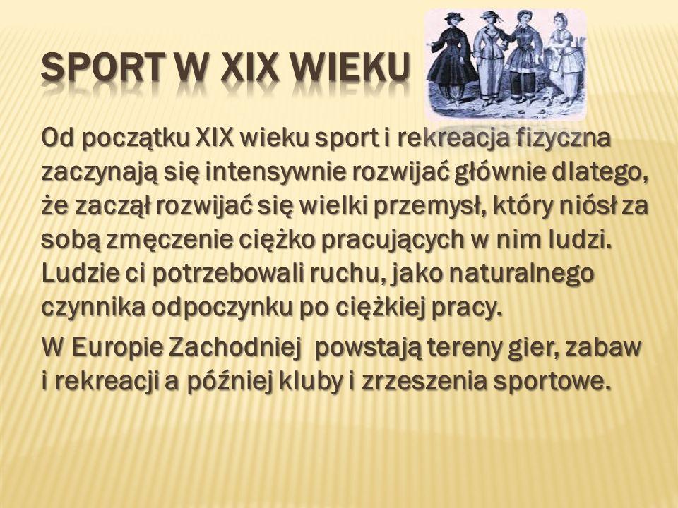 SPORT W XIX WIEKU