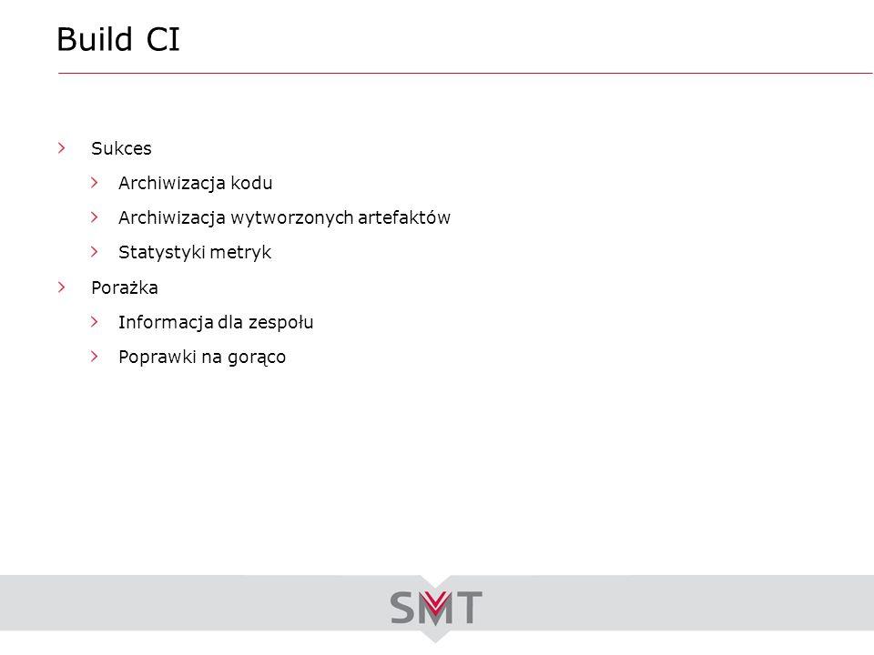 Build CI Sukces Archiwizacja kodu Archiwizacja wytworzonych artefaktów