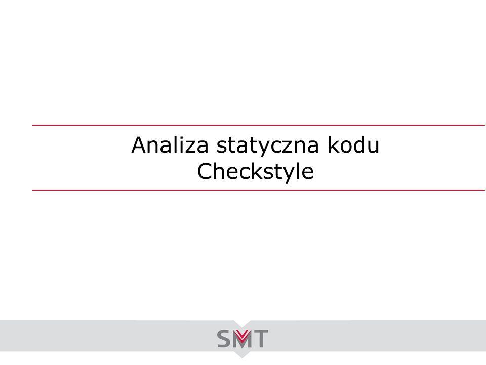 Analiza statyczna kodu Checkstyle