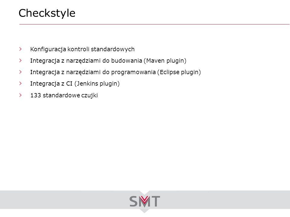 Checkstyle Konfiguracja kontroli standardowych