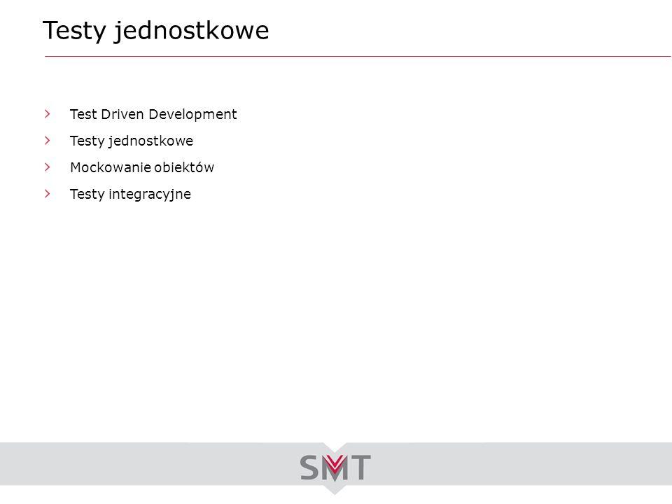 Testy jednostkowe Test Driven Development Testy jednostkowe