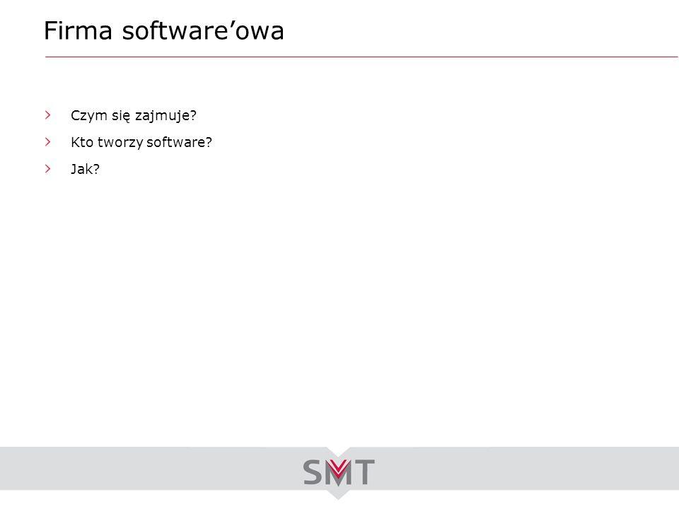 Firma software'owa Czym się zajmuje Kto tworzy software Jak