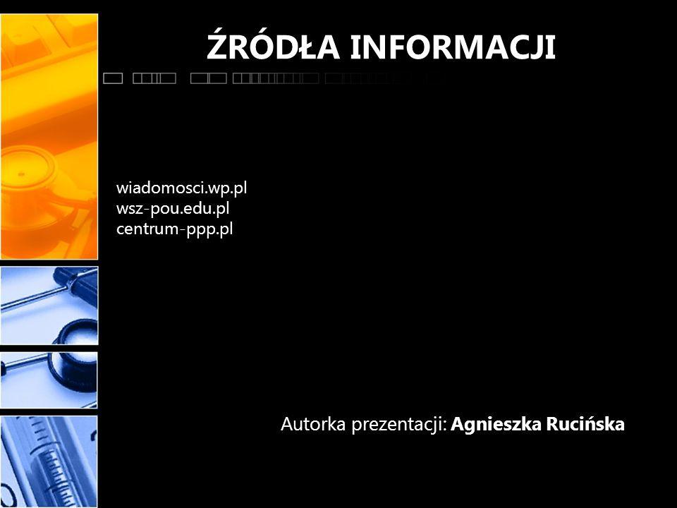 Autorka prezentacji: Agnieszka Rucińska