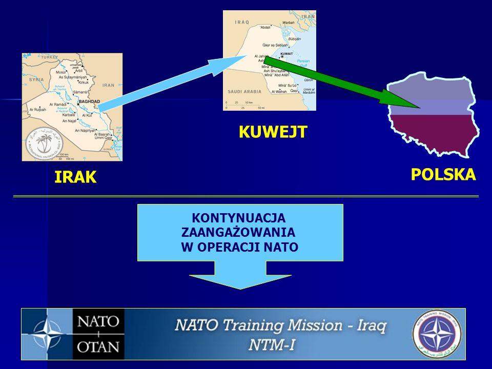 KUWEJT IRAK POLSKA KONTYNUACJA ZAANGAŻOWANIA W OPERACJI NATO