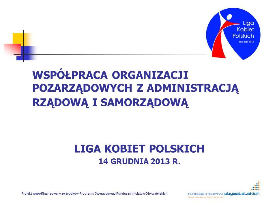 LIGA KOBIET POLSKICH 14 GRUDNIA 2013 R.