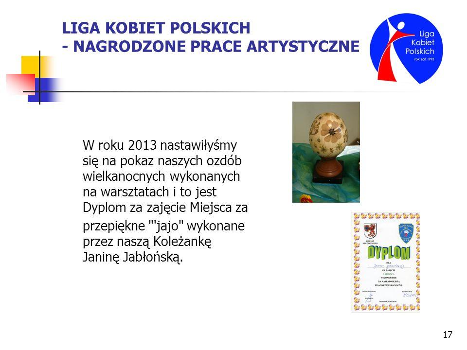 LIGA KOBIET POLSKICH - NAGRODZONE PRACE ARTYSTYCZNE