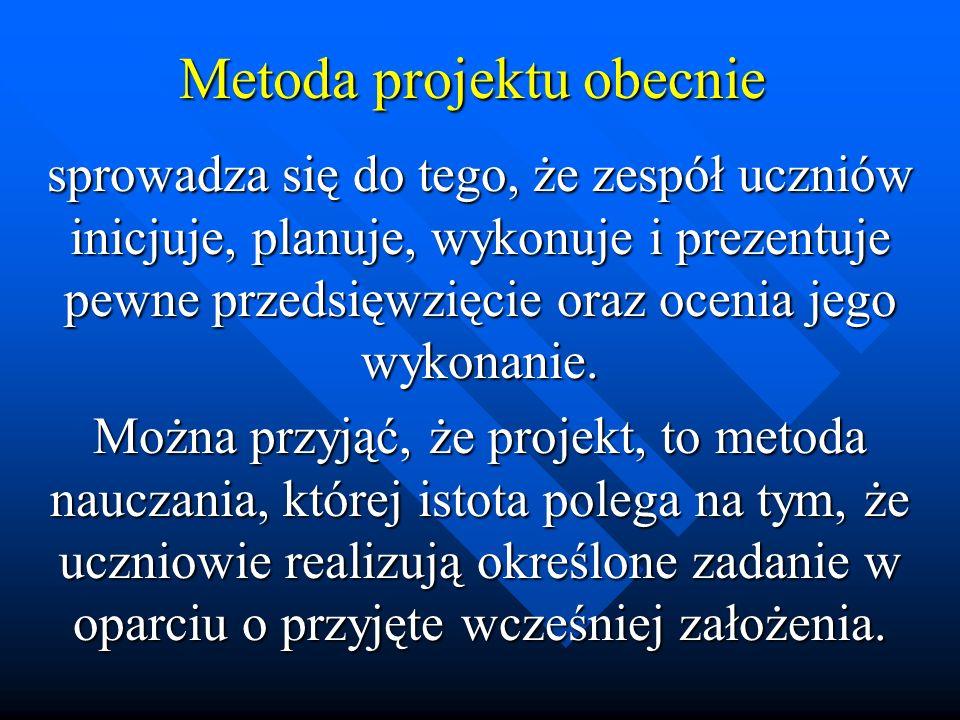Metoda projektu obecnie