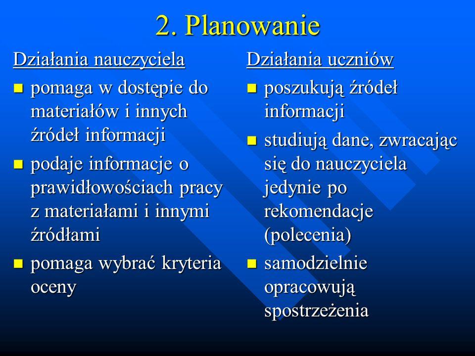 2. Planowanie Działania nauczyciela