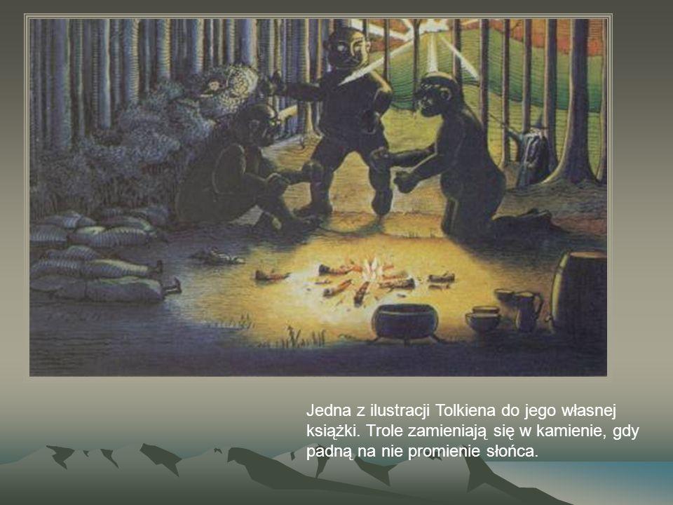 Jedna z ilustracji Tolkiena do jego własnej książki