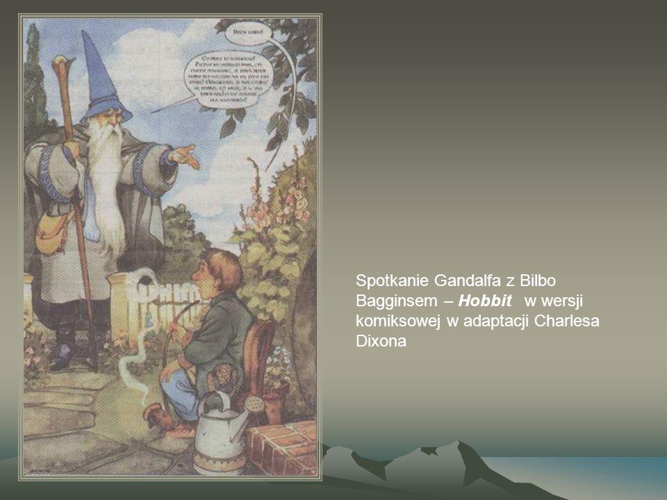 Spotkanie Gandalfa z Bilbo Bagginsem – Hobbit w wersji komiksowej w adaptacji Charlesa Dixona