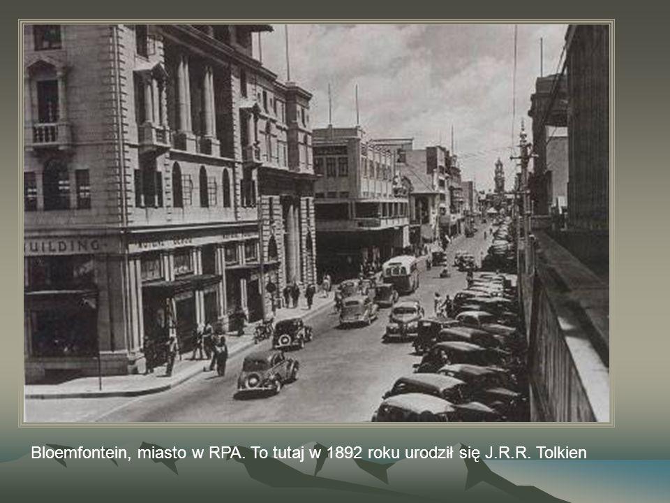 Bloemfontein, miasto w RPA. To tutaj w 1892 roku urodził się J. R. R