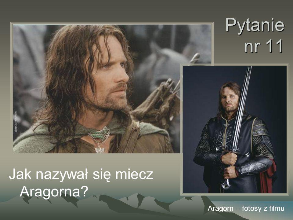 Pytanie nr 11 Jak nazywał się miecz Aragorna Aragorn – fotosy z filmu