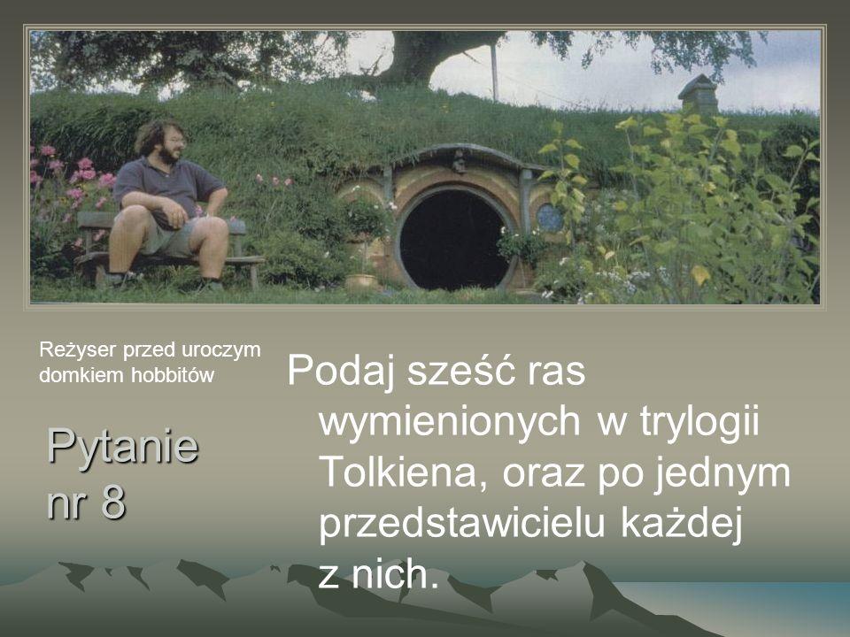 Reżyser przed uroczym domkiem hobbitów