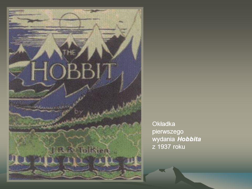 Okładka pierwszego wydania Hobbita z 1937 roku