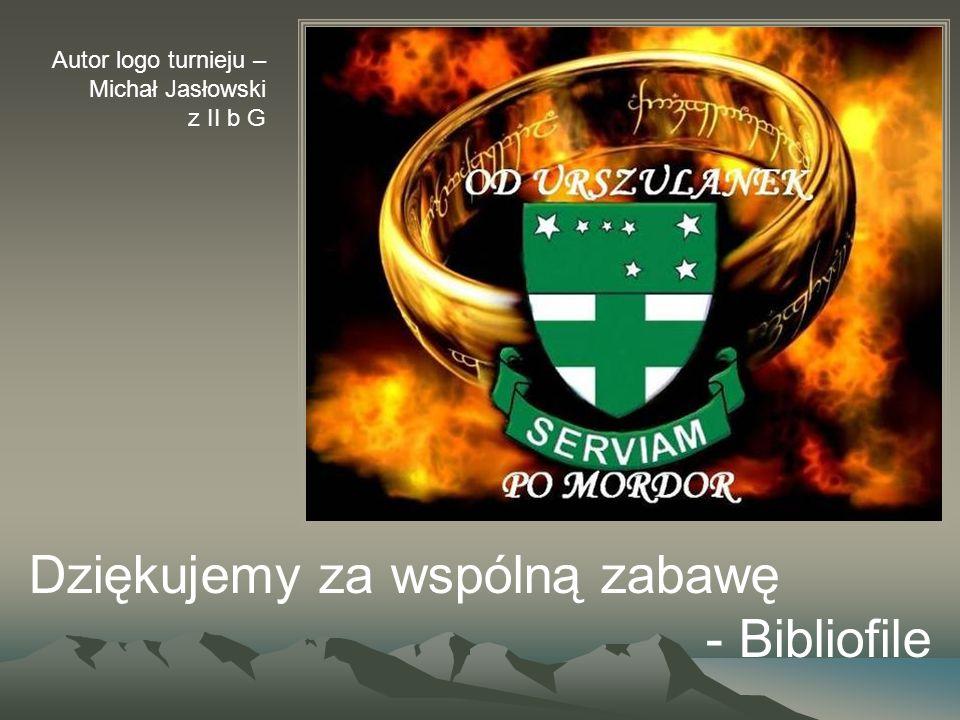 Dziękujemy za wspólną zabawę - Bibliofile