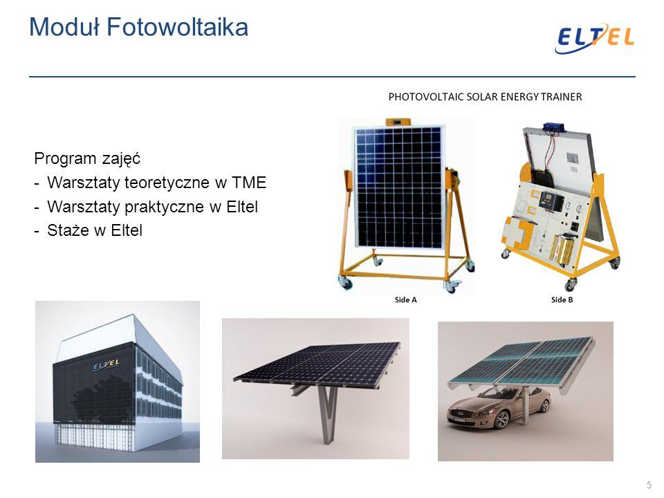 Moduł Fotowoltaika Program zajęć Warsztaty teoretyczne w TME