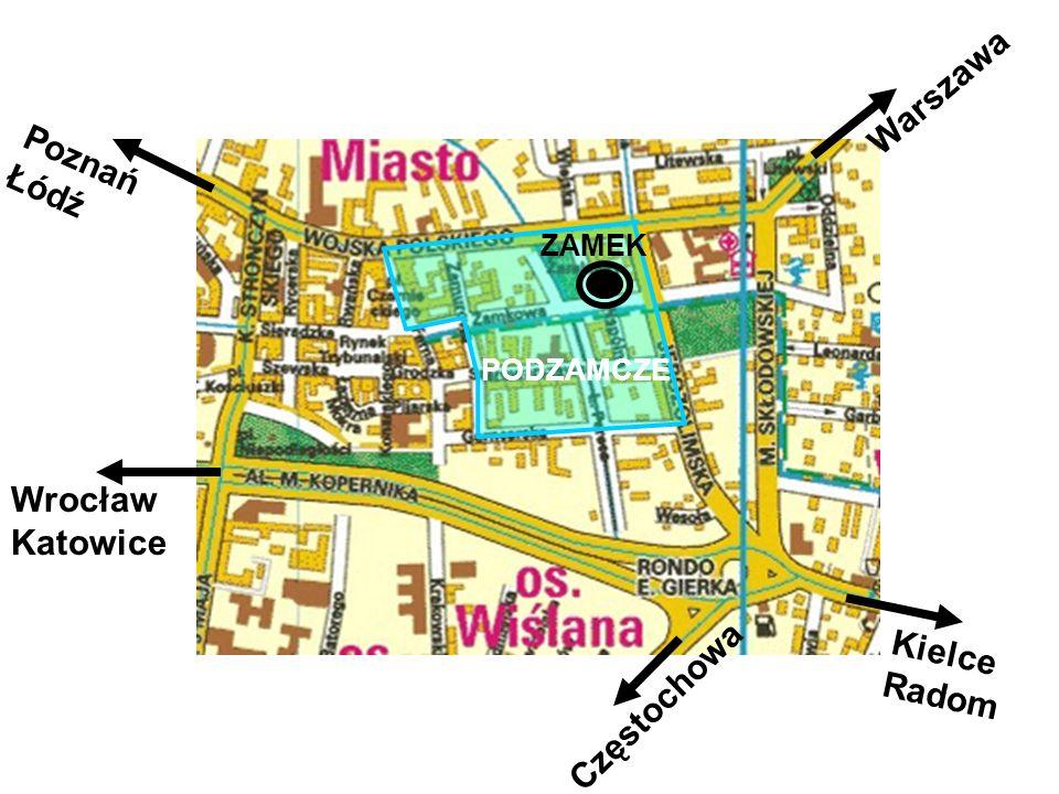 Warszawa Poznań Łódź Wrocław Katowice Kielce Częstochowa Radom ZAMEK