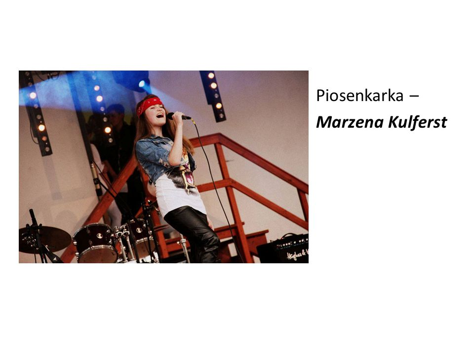 Piosenkarka – Marzena Kulferst