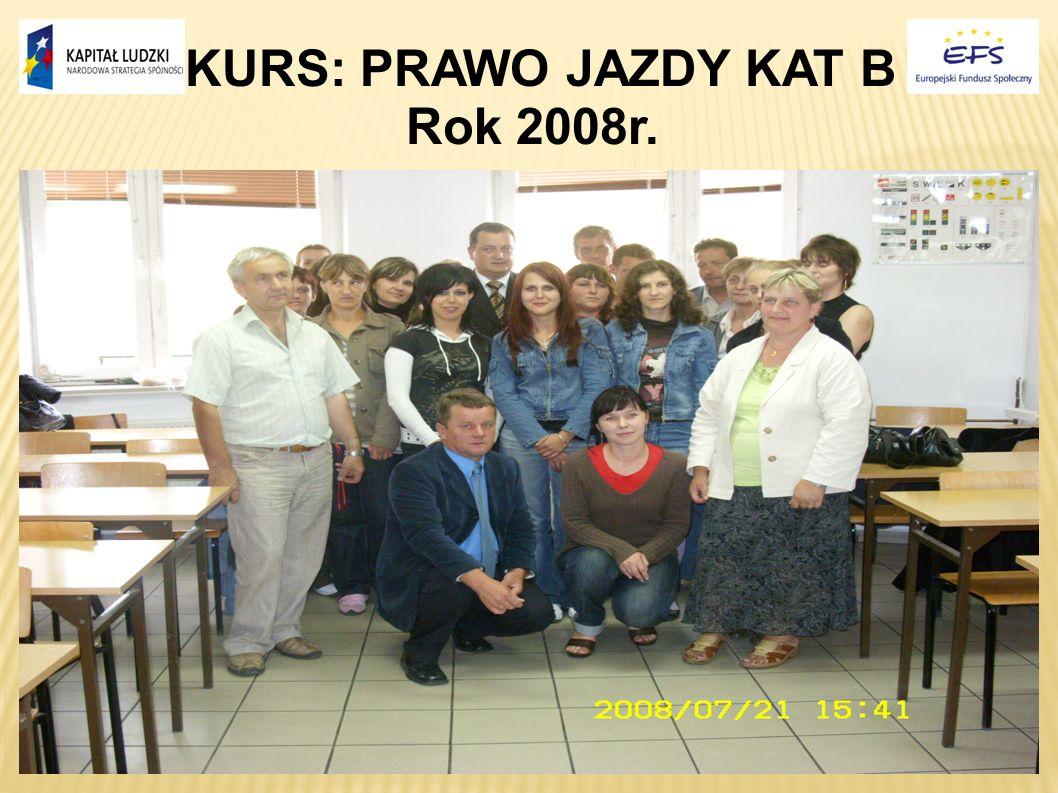 KURS: PRAWO JAZDY KAT B Rok 2008r. 17