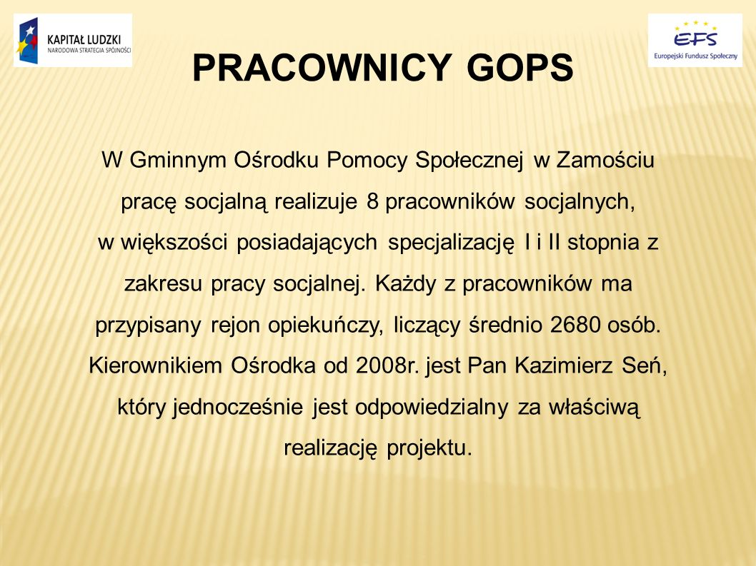 PRACOWNICY GOPS