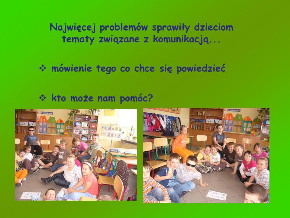 Najwięcej problemów sprawiły dzieciom tematy związane z komunikacją...