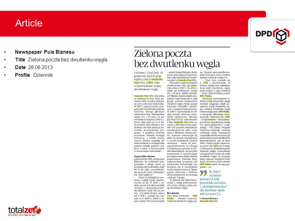 Article Newspaper: Puls Biznesu