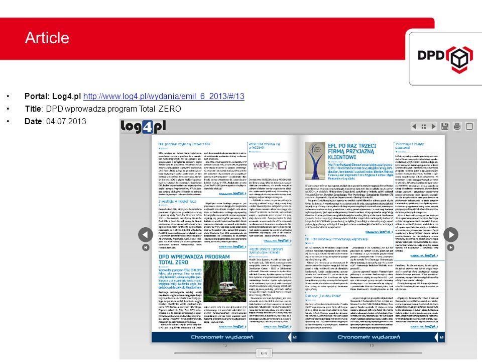 Article Portal: Log4.pl http://www.log4.pl/wydania/emil_6_2013/#/13