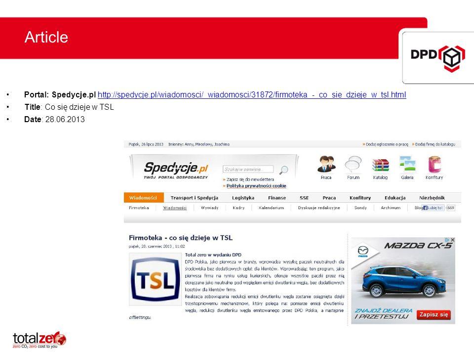 ArticlePortal: Spedycje.pl http://spedycje.pl/wiadomosci/_wiadomosci/31872/firmoteka_-_co_sie_dzieje_w_tsl.html.