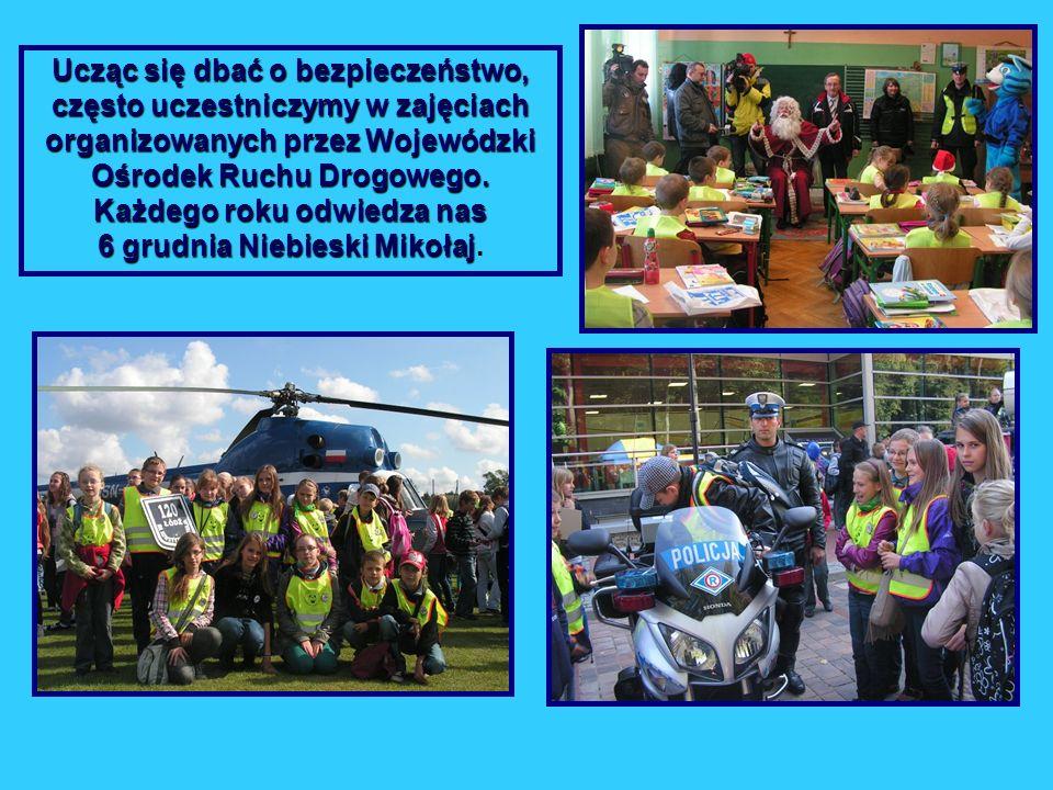 Ucząc się dbać o bezpieczeństwo, często uczestniczymy w zajęciach organizowanych przez Wojewódzki Ośrodek Ruchu Drogowego.