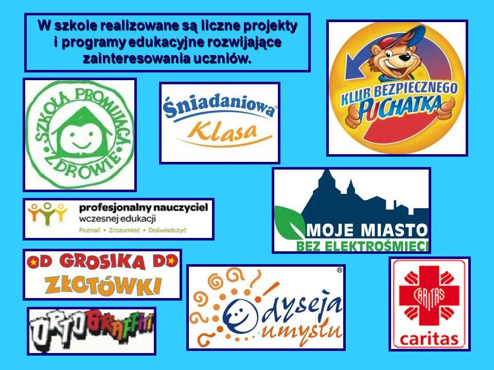 W szkole realizowane są liczne projekty i programy edukacyjne rozwijające zainteresowania uczniów.