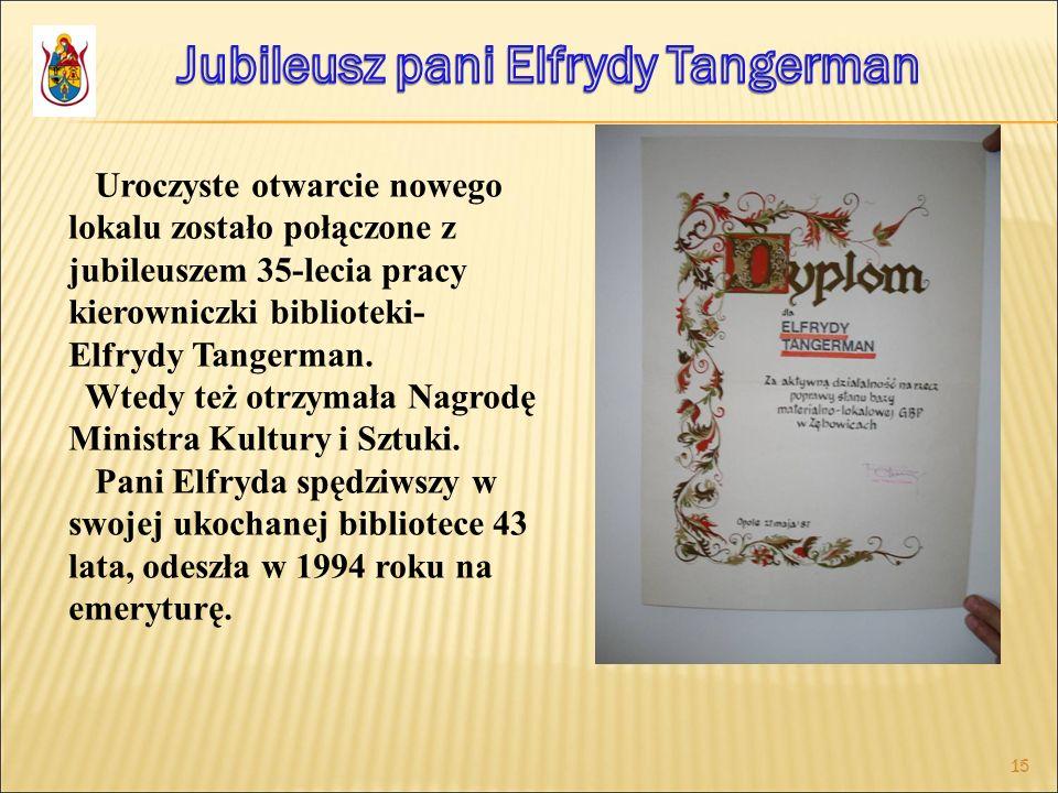 Jubileusz pani Elfrydy Tangerman