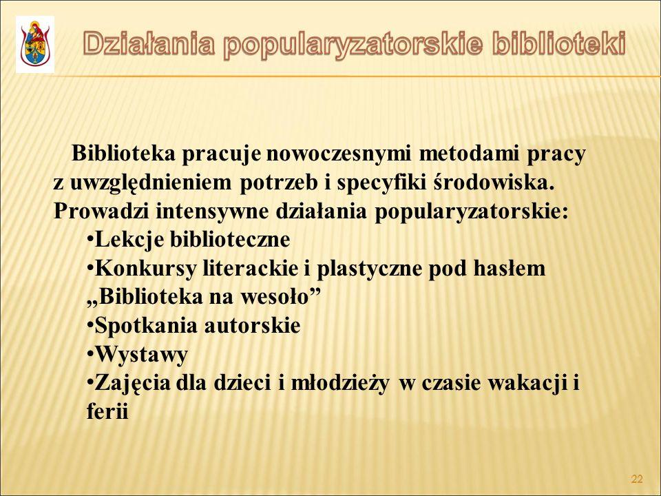 """Konkursy literackie i plastyczne pod hasłem """"Biblioteka na wesoło"""