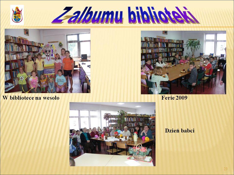 Z albumu biblioteki W bibliotece na wesoło Ferie 2009 Dzień babci