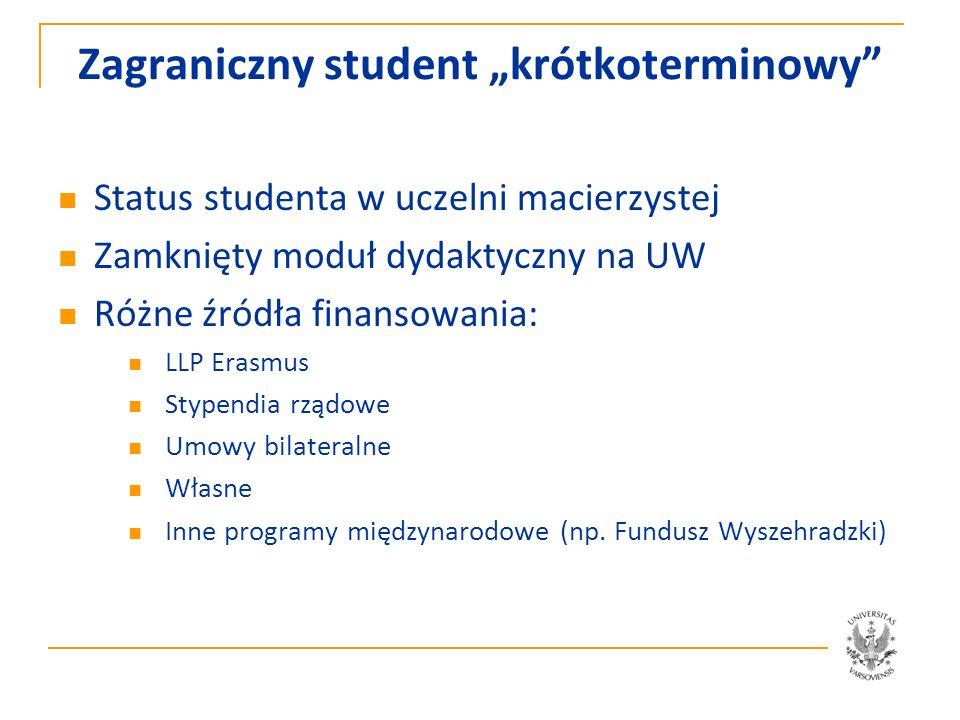 """Zagraniczny student """"krótkoterminowy"""