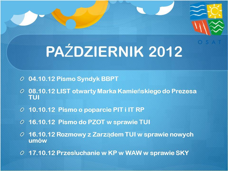 PAŹDZIERNIK 2012 04.10.12 Pismo Syndyk BBPT