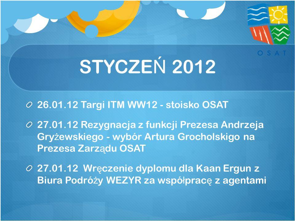 STYCZEŃ 2012 26.01.12 Targi ITM WW12 - stoisko OSAT