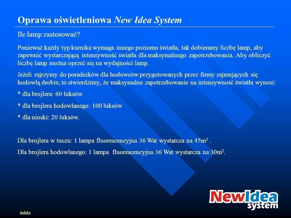 Oprawa oświetleniowa New Idea System