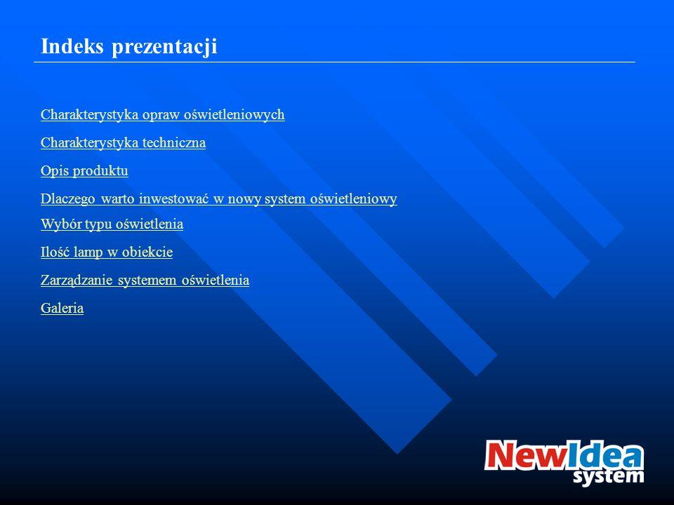 Indeks prezentacji Charakterystyka opraw oświetleniowych