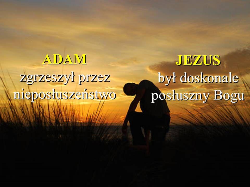 ADAM zgrzeszył przez nieposłuszeństwo