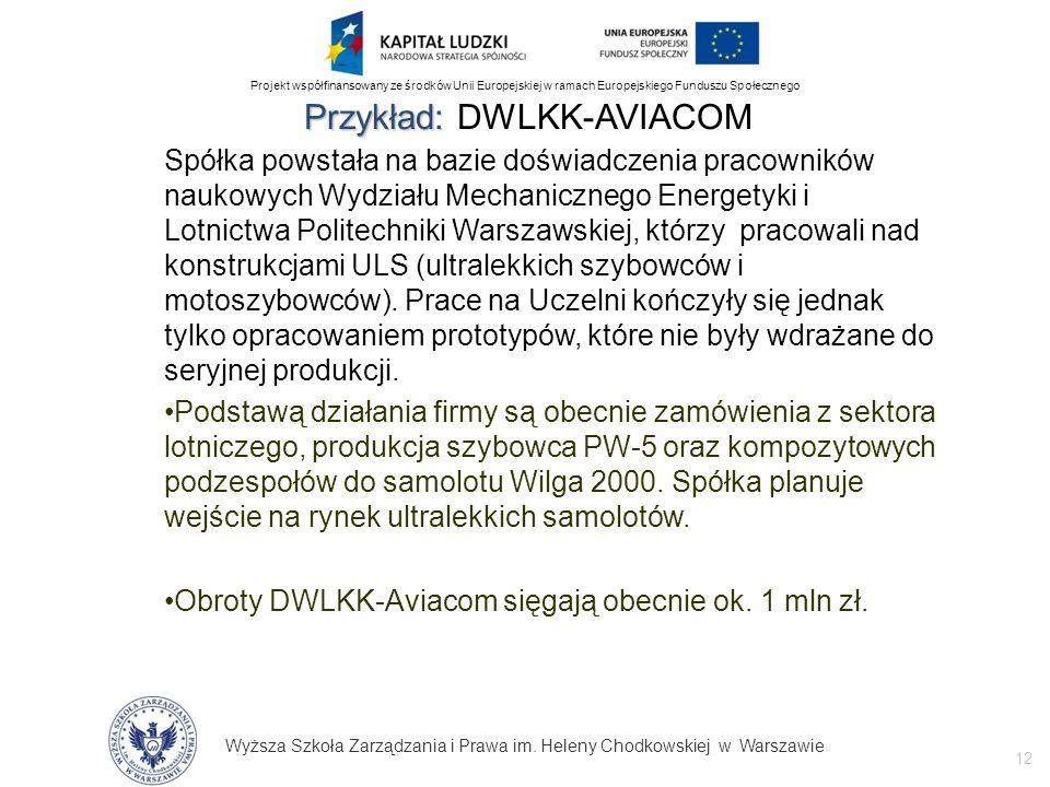 Przykład: DWLKK-AVIACOM