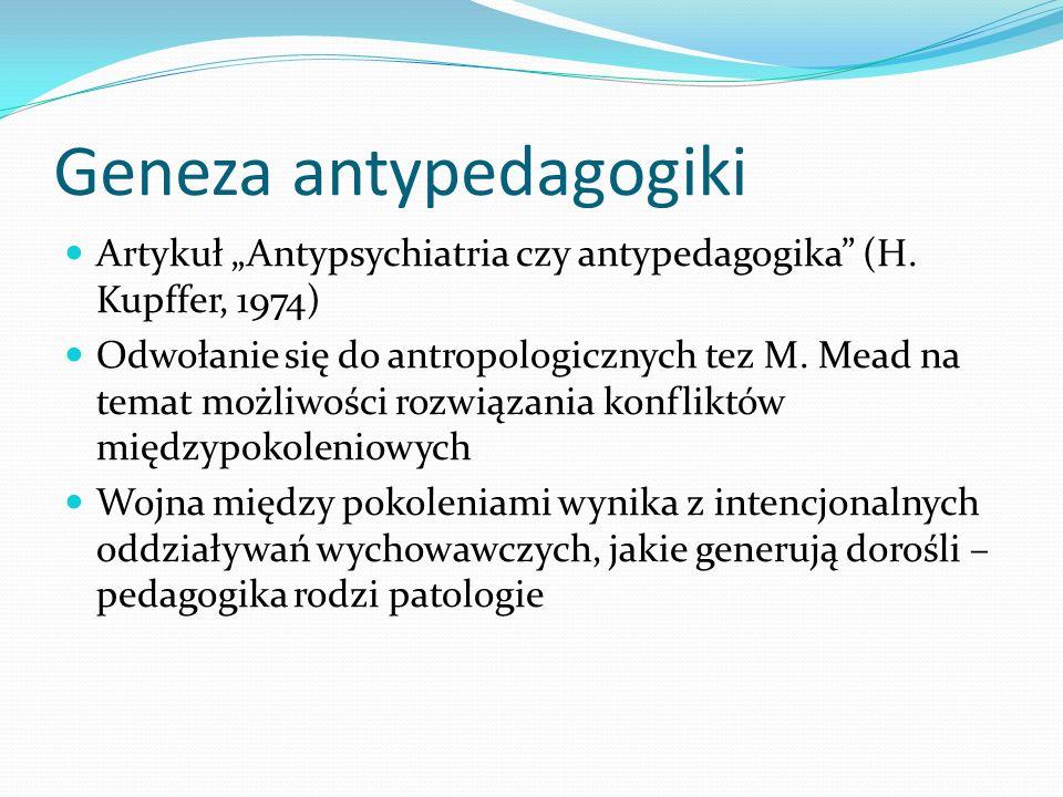 Geneza antypedagogiki