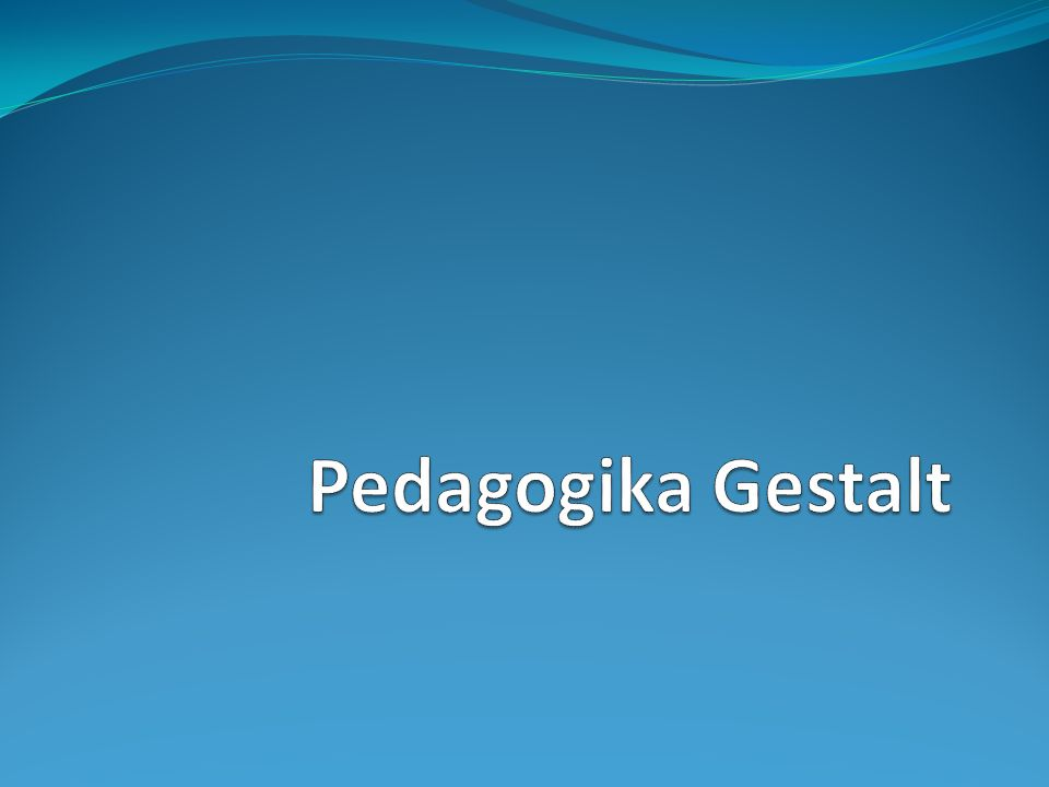 Pedagogika Gestalt