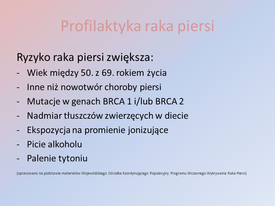 Profilaktyka raka piersi