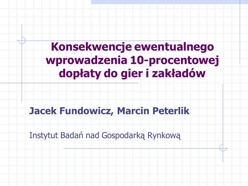 Jacek Fundowicz, Marcin Peterlik Instytut Badań nad Gospodarką Rynkową