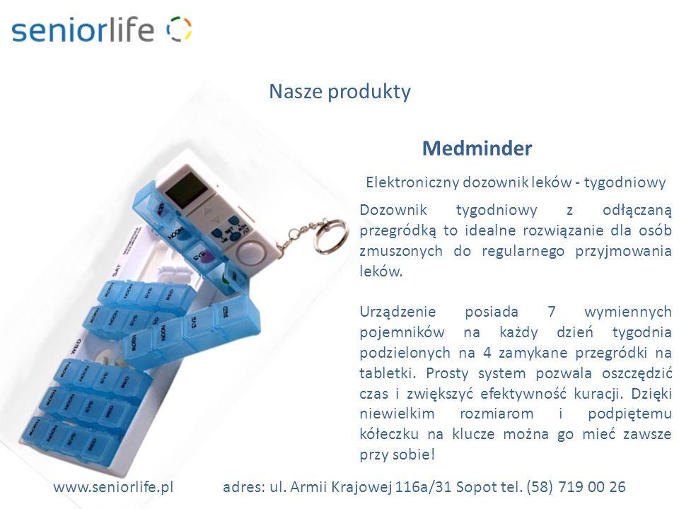 Elektroniczny dozownik leków - tygodniowy