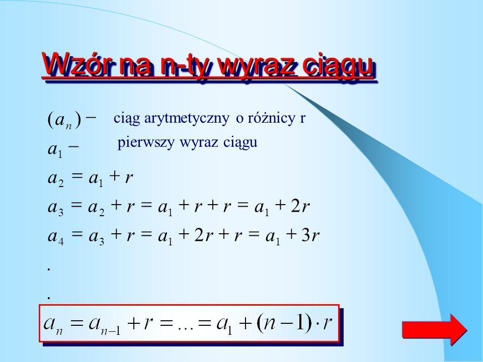 Wzór na n-ty wyraz ciągu
