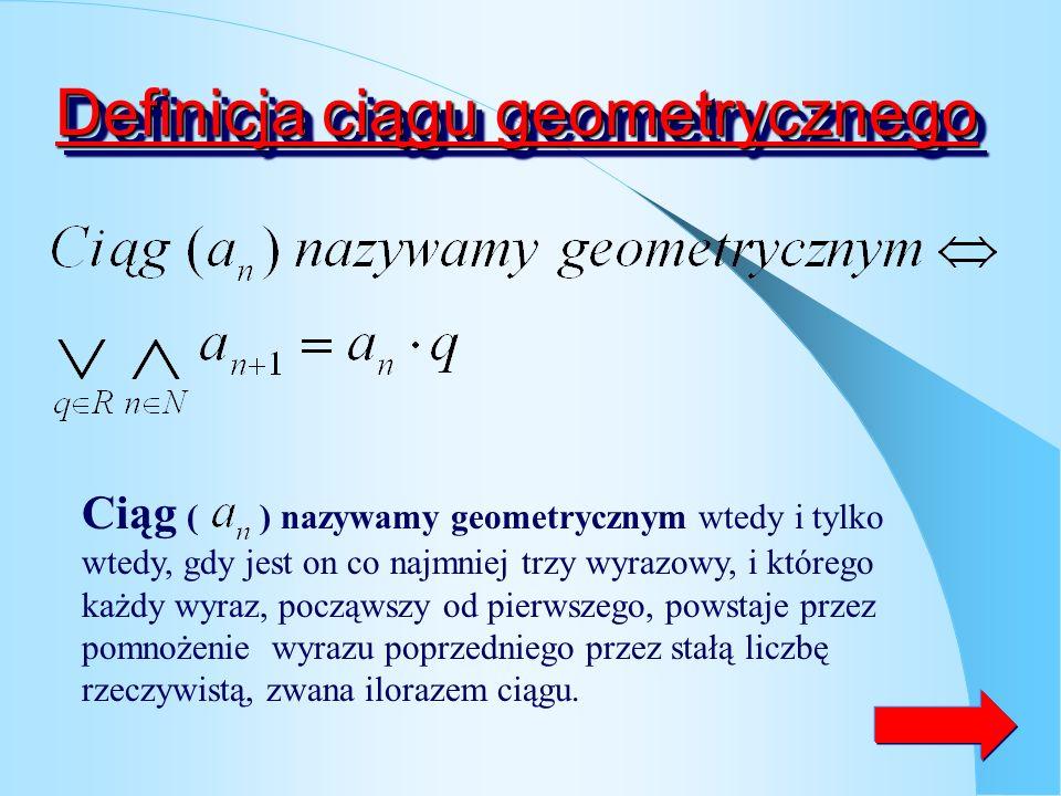 Definicja ciągu geometrycznego